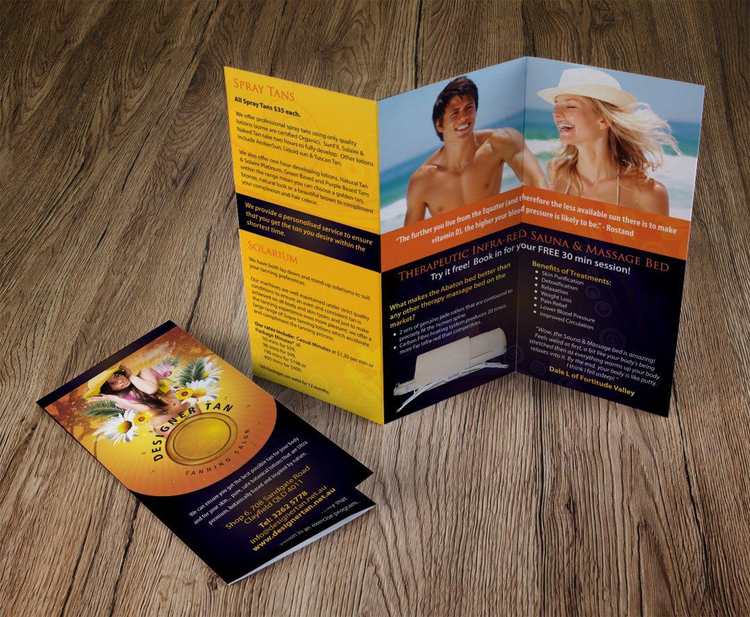 Designer Tan Tri-fold Brochure
