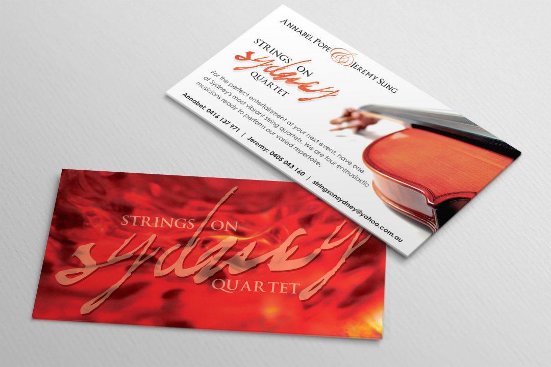 Strings On Sydney Business Card