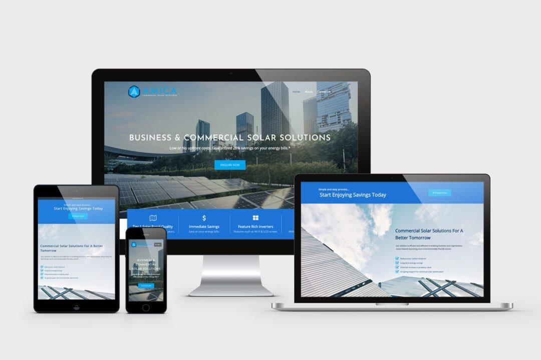 Amica Solar Solutions Website