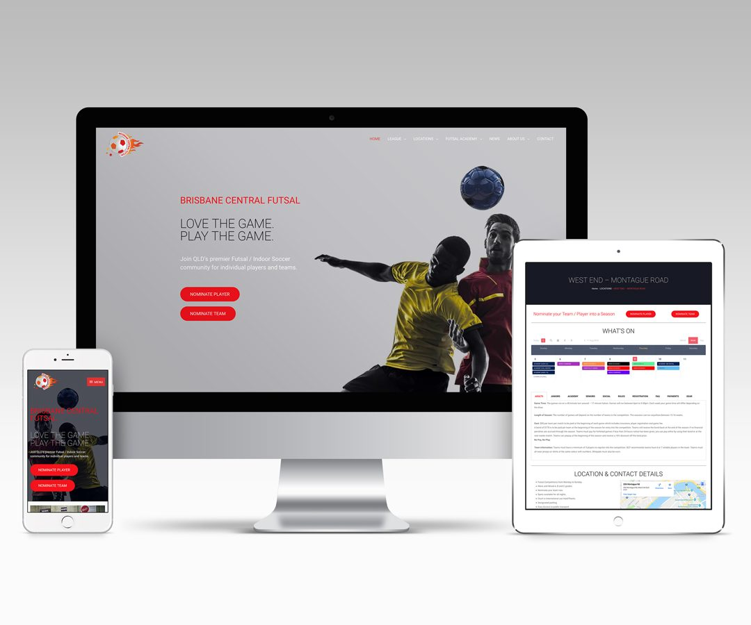 Website Designer Brisbane - Brisbane Central Futsal